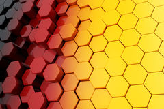 Background of Metal Multicolour Hexagon. 3d Rendering Stock Images