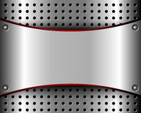 Background with a metal plate and grille Royalty Free Stock Photography