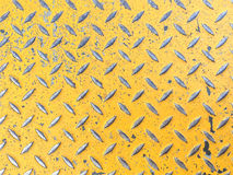 Background of metal  plate in yellow color. Yellow  steel plate Royalty Free Stock Photography