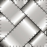 Background of metal plates Royalty Free Stock Photo