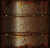 Background metal rusty cuprum texture Stock Images