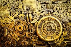 Background metal vintage machinery. Stock Photos