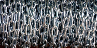 Metallic chains Royalty Free Stock Photos