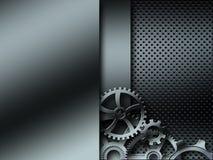 Background metallic gears Stock Image
