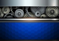 Background metallic with gears Royalty Free Stock Images
