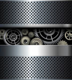 Background metallic gears Stock Photography