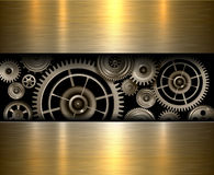 Background metallic gears Royalty Free Stock Photos