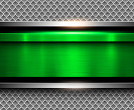Background metallic green Stock Photos