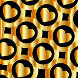 Background with metallic hearts. For web Stock Illustration