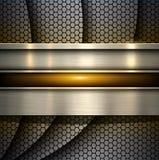 Background metallic with hexagons texture Stock Image