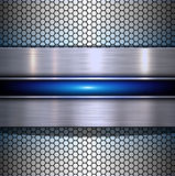 Background metallic with hexagons texture Stock Photos