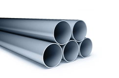 Background metallic pipes Stock Photography