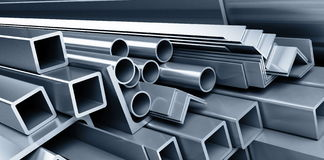Background metallic pipes Royalty Free Stock Images