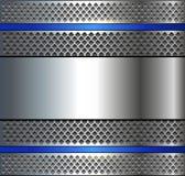 Background metallic silver blue Stock Photo