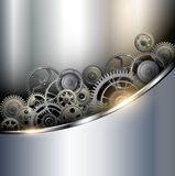 Background metallic. With technology gears, vector illustration Royalty Free Stock Photo