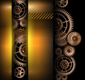 Background metallic. Technology gears, vector illustration Royalty Free Stock Images