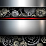Background metallic. With technology gears, vector illustration Stock Photography