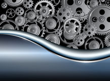 Background metallic with technology gears Stock Photography