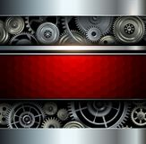 Background metallic with gears Royalty Free Stock Photo