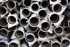 Background of metallic tubes Stock Images