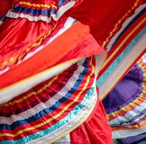 Background with a Mexican dancer dress while dancing. Background with a Mexican dancer`s dress while dancing royalty free stock photography