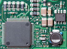 Background is the microcircuit Stock Photo
