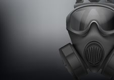 Background of Military black gasmask vector Stock Photo