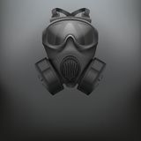 Background of Military black gasmask vector Royalty Free Stock Images