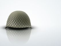 Background with Military classic helmet vector Royalty Free Stock Image