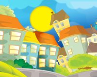 Background for misc usage - animation - illustration - illustration for the children Stock Images