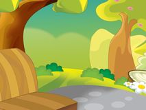 Background for misc usage - animation - illustration - illustration for the children Royalty Free Stock Image