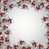 Background with mistletoe for Christmas designs. With place for text Royalty Free Stock Photo