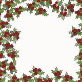 Background with mistletoe for Christmas designs. With place for text Stock Photography