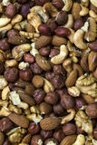 Background mix of nuts and raisins Stock Image