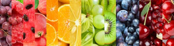 Background of mixed of color fruits royalty free stock image