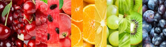 Background of mixed of color fruits royalty free stock images
