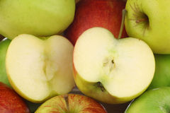 Background of mixed fresh apples Stock Photos