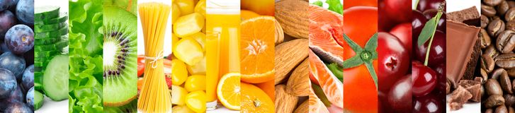 Background of mixed fresh color ripe food Stock Image