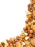 Background of mixed nuts with copy space Stock Photos