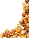 Background of mixed nuts with copy space Stock Photo