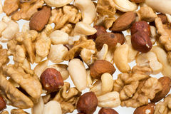Background of mixed nuts Royalty Free Stock Images