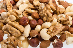 Background of mixed nuts Royalty Free Stock Photography