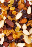 Background from mixed nuts and sultanas Royalty Free Stock Images