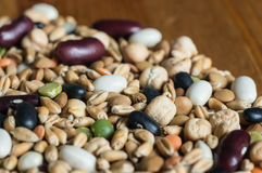 Background from mixtures of different grains Royalty Free Stock Photo