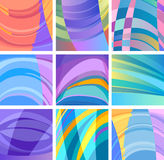 Background modern abstract design set Stock Photo