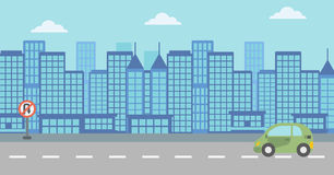 Background of modern city. Royalty Free Stock Image