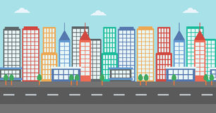 Background of modern city. Royalty Free Stock Images