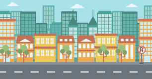 Background of modern city. Stock Images