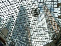 Background of modern glass building roof shopping Mall.  Stock Images