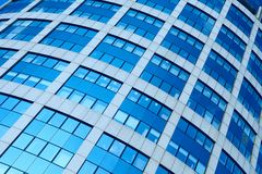Background of modern glass skyscraper Royalty Free Stock Photos